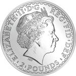Silbermünze Silber Britannia Rückseite
