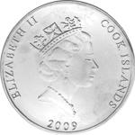 Silbermünze Cook Islands Rückseite