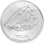 Silbermünze Cook Islands Vorderseite