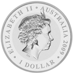 Silbermünze Koala Rückseite