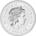 Silbermünze Kookaburra Rückseite