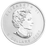 Silbermünze Silber Maple Leaf Rückseite