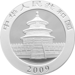 Silbermünze Silber Panda Rückseite